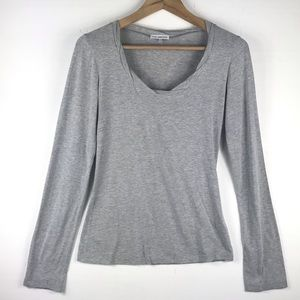 James Perse Tops - James Perse long sleeve scoop neck tee shirt Sz 3